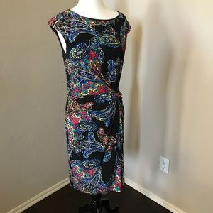 Peter Nygard Twist Waist Midi Dress